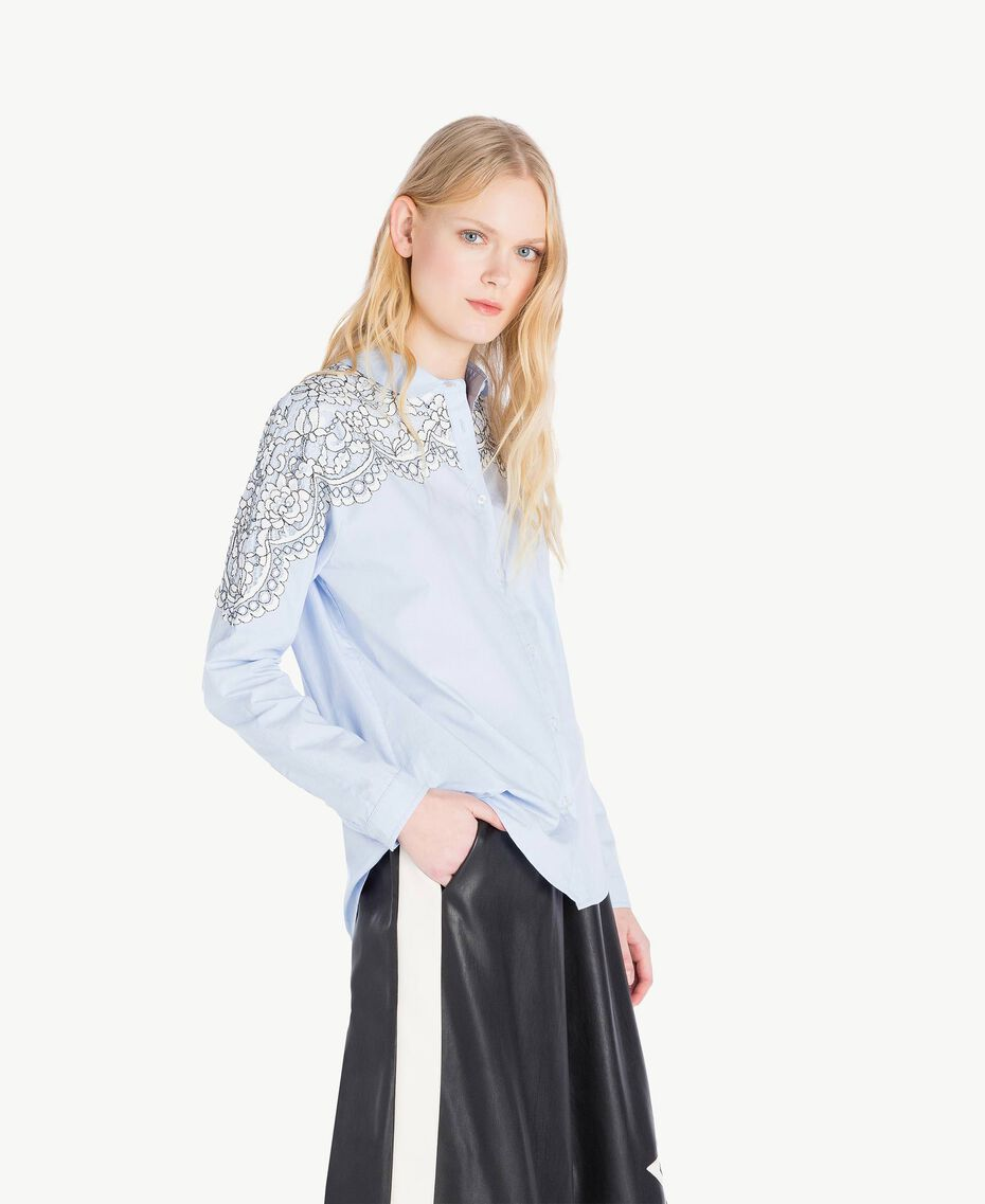 Lace shirt Topaze Sky Blue Woman JS82D2-02