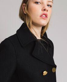 Mantel aus Tuchstoff Schwarz Frau 191MP2461-03