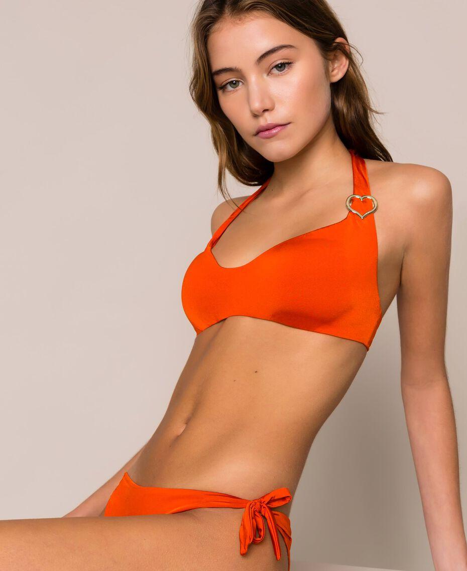 "Triangle bikini top with heart ""Ace"" Orange Woman 201LBMCVV-01"