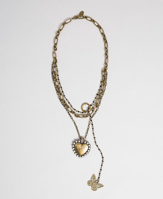 Choker with chains and pendants