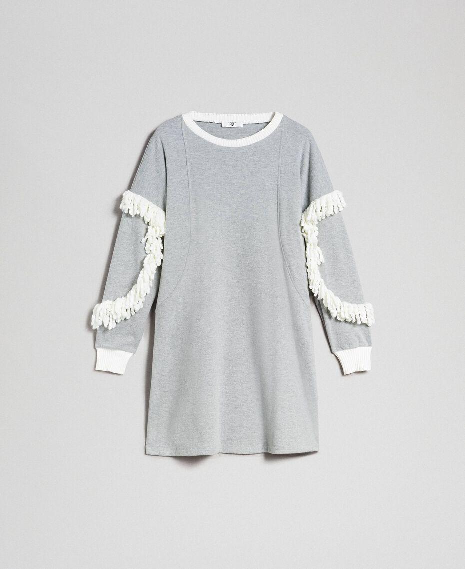 Fringed night gown Melange Grey Woman 192LL2EEE-0S