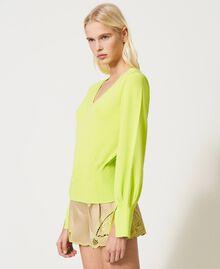 "Jersey sin costuras con mangas amplias Amarillo ""Led"" Mujer 211TT3071-02"