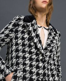 Houndstooth bouclé coat White / Black Houndstooth Woman 192TP2630-05