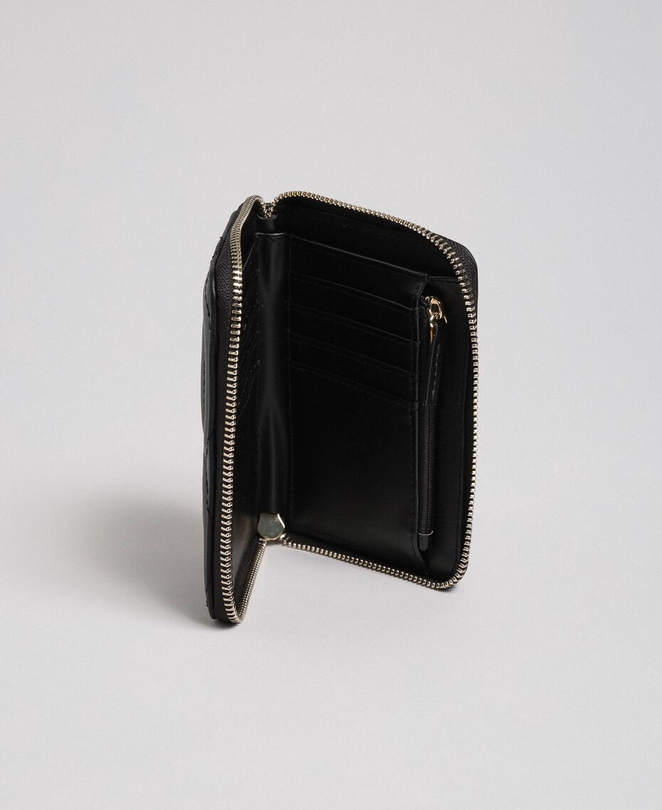 Small faux leather wallet Black Woman 192MA7088-02
