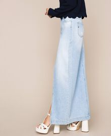Jupe longue en jean Bleu Denim Femme 201MP2282-02