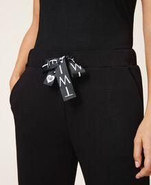 Pantalon de jogging en scuba Noir Femme 202LI2JNN-04