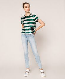 Push up jeans with five pockets Denim Blue Woman 201MP227K-0T
