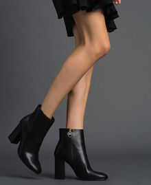 Faux leather ankle boots Black Woman 192MCT030-0S