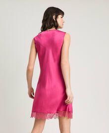 Платье-комбинация из атласа и кружева Цветок розы женщина 191LL2DBB-03