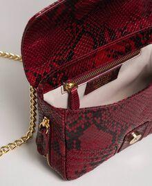 Маленькая сумка через плечо Rebel с питоновым принтом Питоновый Принт Красная Свекла женщина 192TO7231-05