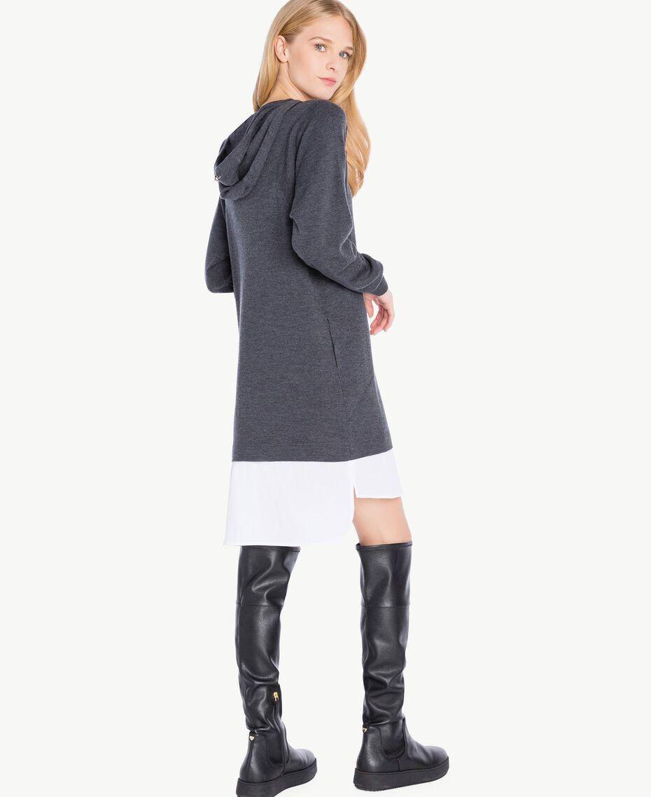 Wool dress Dark Melange Grey / Optical White Female TA73DE-03