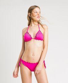 "Трусики-бразилиана с завязками и рюшами Фуксия ""Ядовитый розовый"" женщина 191LBMHNN-0S"
