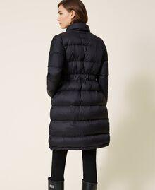 Doudoune longue avec cordon coulissant en velours Noir Femme 202MP2541-03
