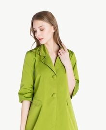 """Technical fabric duster coat """"Lime"""" Green Woman PS82J1-04"""