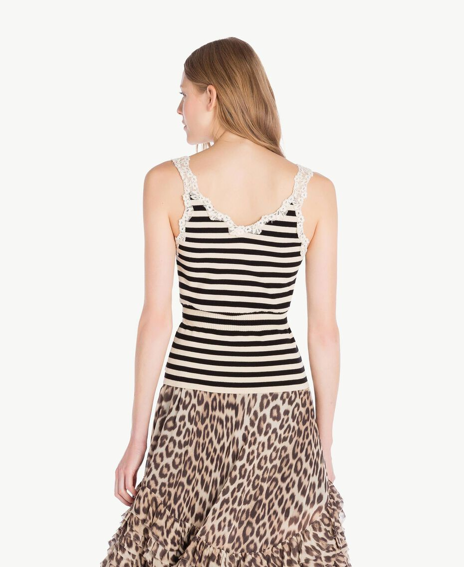 Striped tank top Black / Ecru Stripes Woman PS8396-03
