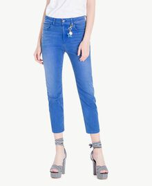 Girlfriend jeans Denim Blue Woman JS82WQ-01