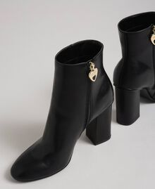 Faux leather ankle boots Black Woman 192MCT030-02