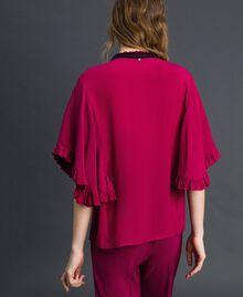 Рубашка из смесового шелкового крепдешина Красная Свекла женщина 192TP2260-03