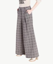 Check palazzo pants Jacquard Gingham Woman PS827Q-02