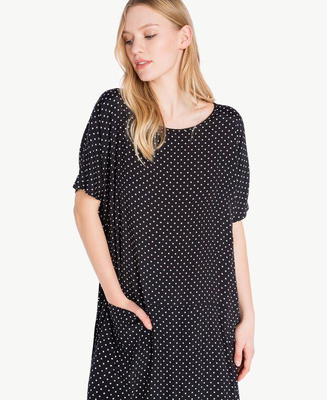 Polka dot dress Black Polka Dot Print / Ivory Woman PS8283-04