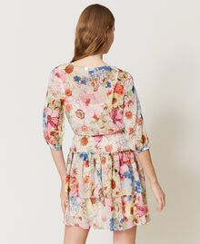 """Платье с цветочным принтом Принт Большой Цветок Розовый """"Розовая фуксия"""" женщина 211LM2JKK-03"""