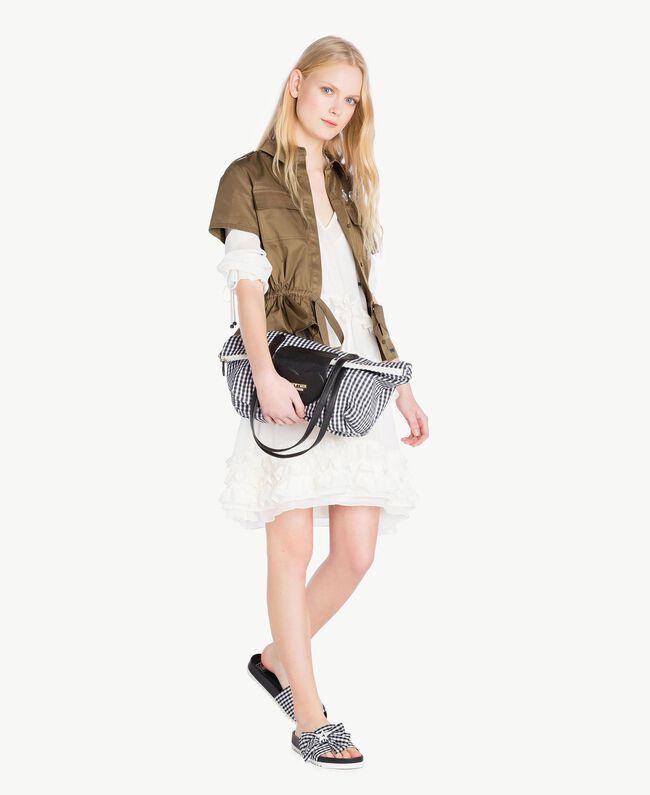 Ruched mini dress Parchment White Woman JS82NC-05