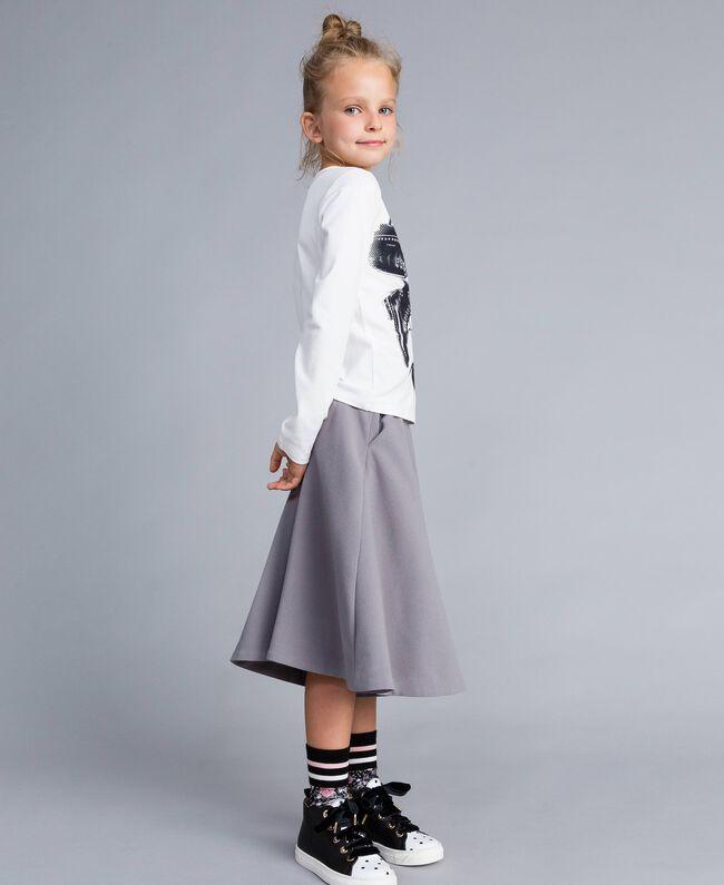 Gonna pantalone in crêpe Grey Stone Bambina GA82DC-03