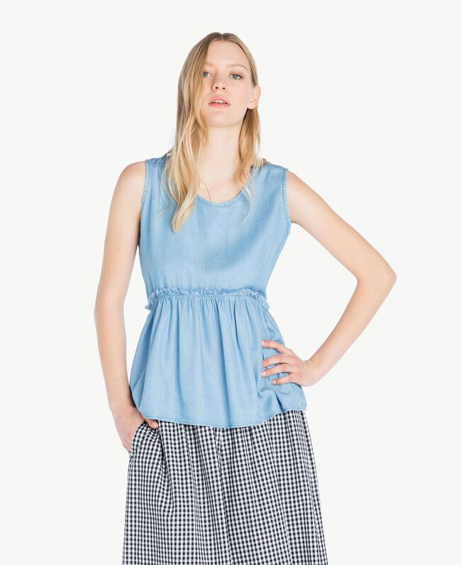 Denim top Denim Blue Woman JS82S3-01