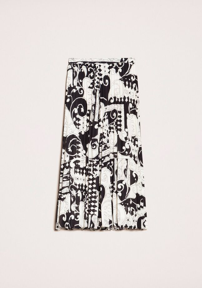 Printed georgette trouser-skirt