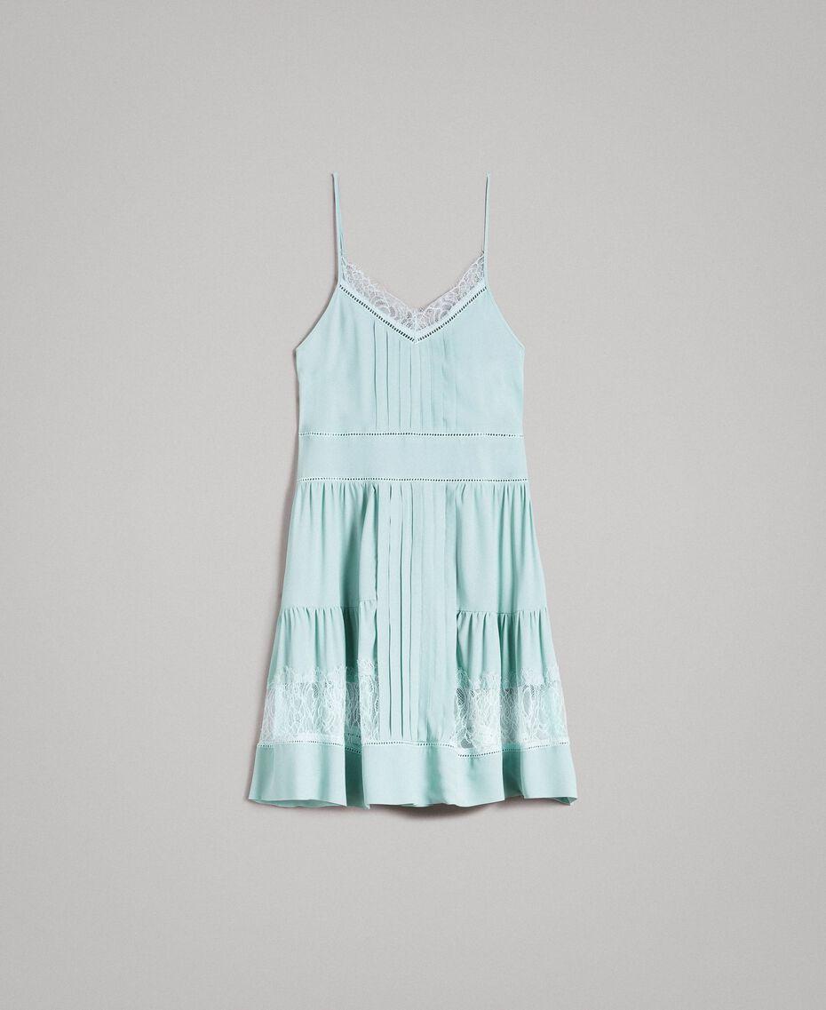 Платье из кружева и смесового шелка Аквамарин женщина 191TP2741-0S