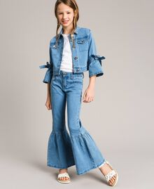 Bell-Bottom-Jeans Hellblauer Denim Kind 191GJ2590-02