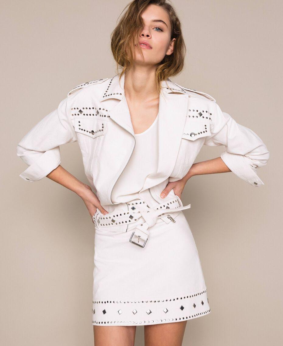 Perfecto clouté Blanc Antique White Femme 201TT2022-01