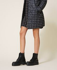 Faux leather combat boots with logo Black Woman 202MCP080-0S