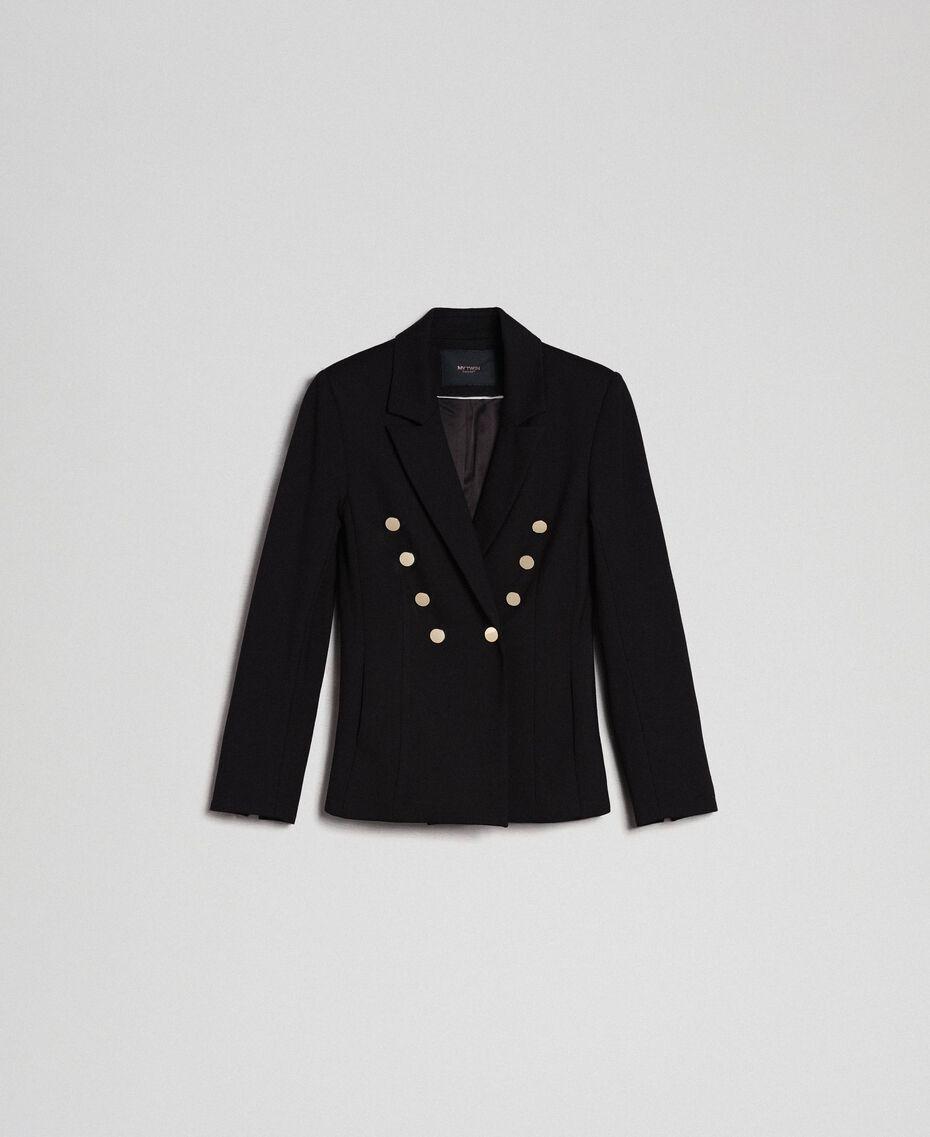 Blouson croisé slim Noir Femme 192MP2170-0S