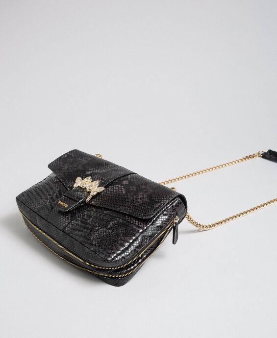 Большая сумка через плечо Rebel с питоновым принтом