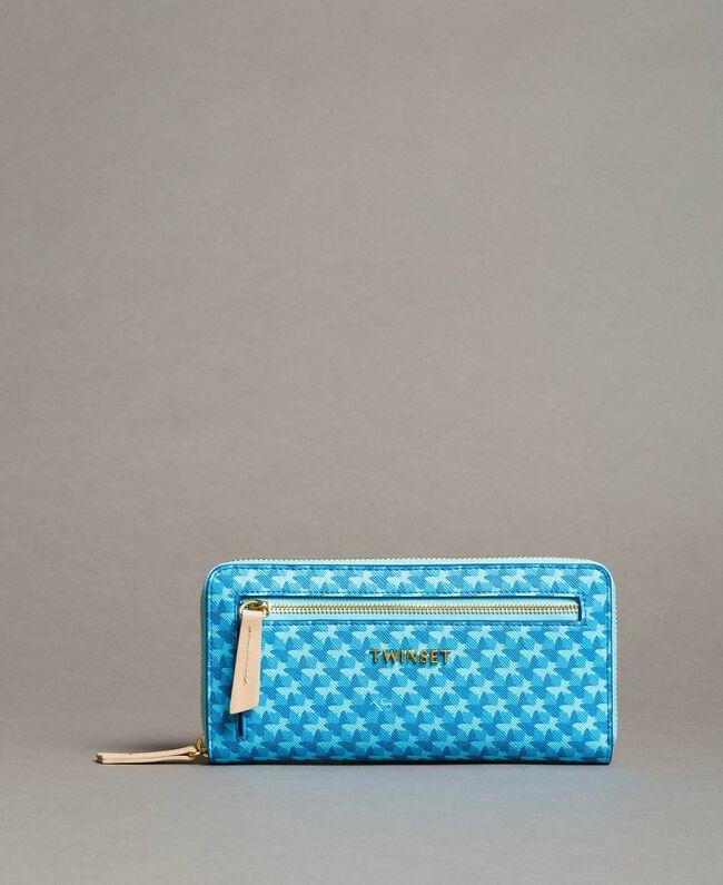 Geldbörse mit durchgängigem Schmetterlingsmuster Motiv Mikonos Hellblaue Schmetterlinge Frau 191TA7177-01