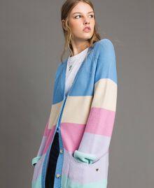 Maxi cardigan rayé Multicolore Couleur Pastel Femme 191MP3010-02