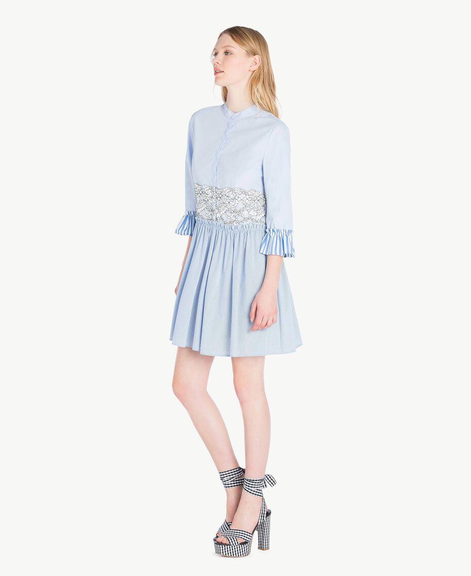 Robe chemisier dentelle Topaze Bleu Femme JS82D5-02