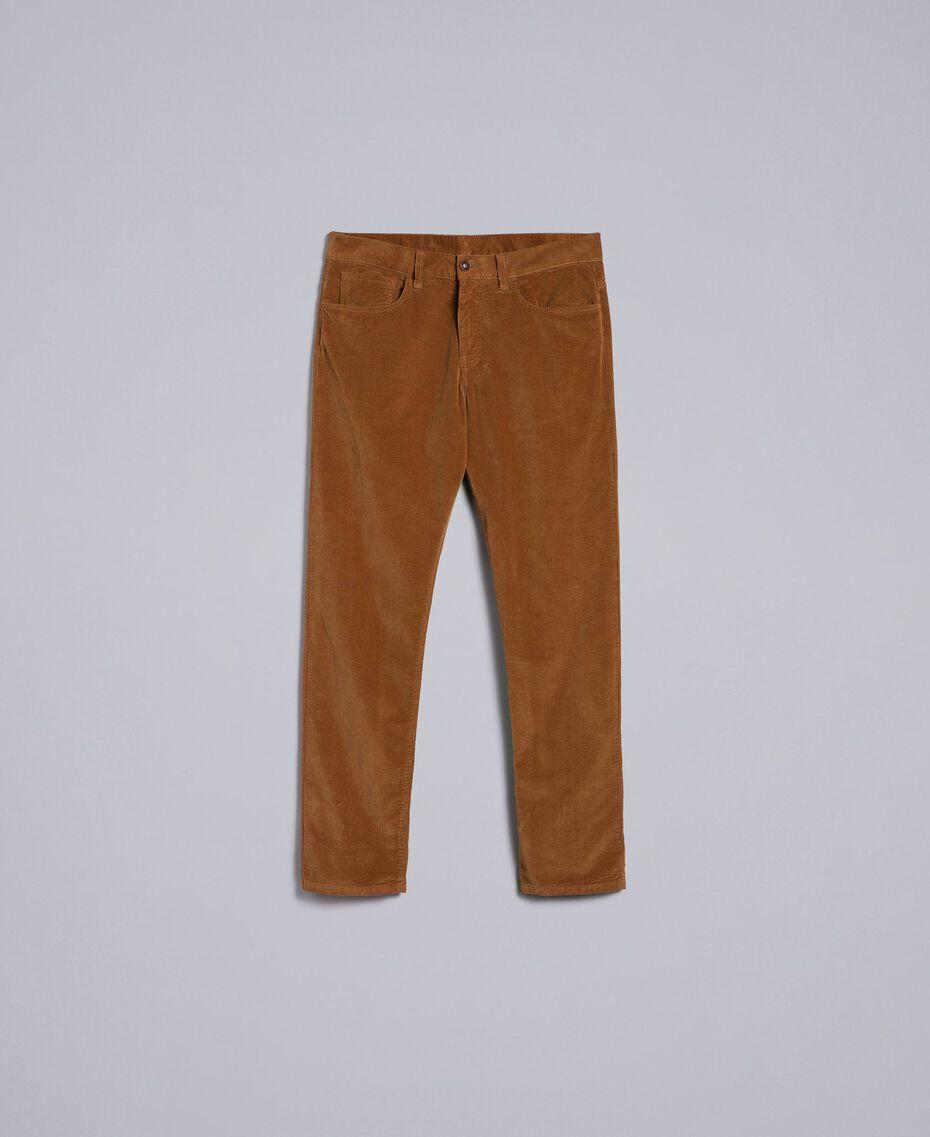 Pantalon en velours Beige Toffee Homme UA82CA-0S