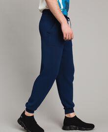 Jogginghose aus Baumwollmischung Blackout Blau Mann 191UT3083-03