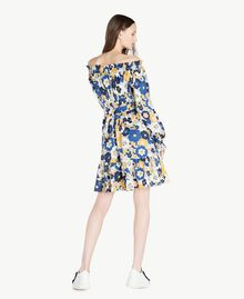 Robe imprimée Imprimé Fleurs Plates Bleu Placide Femme SS82PC-03