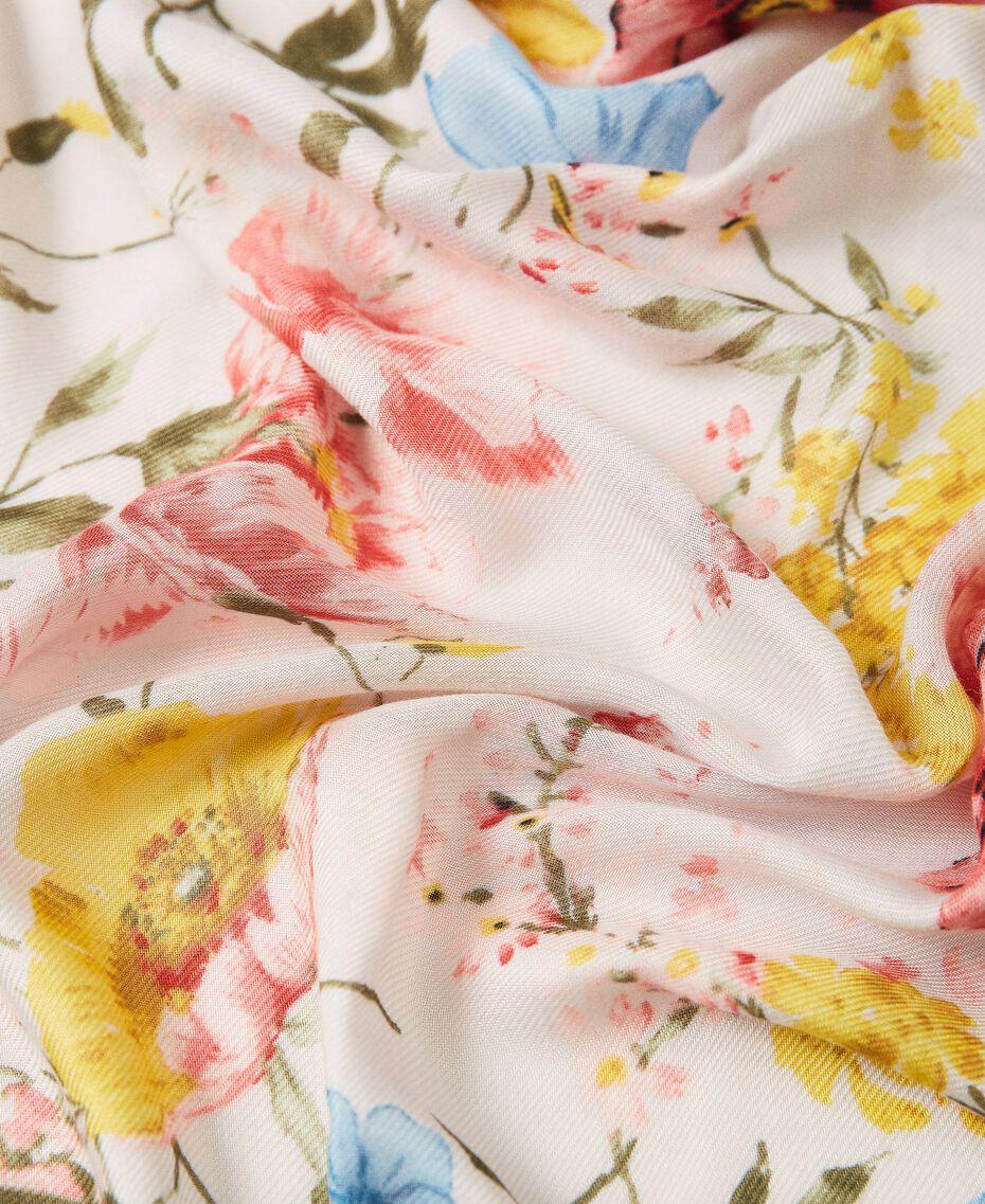 Floral kefiah Meadow Flower Print Woman 211TO5047-03