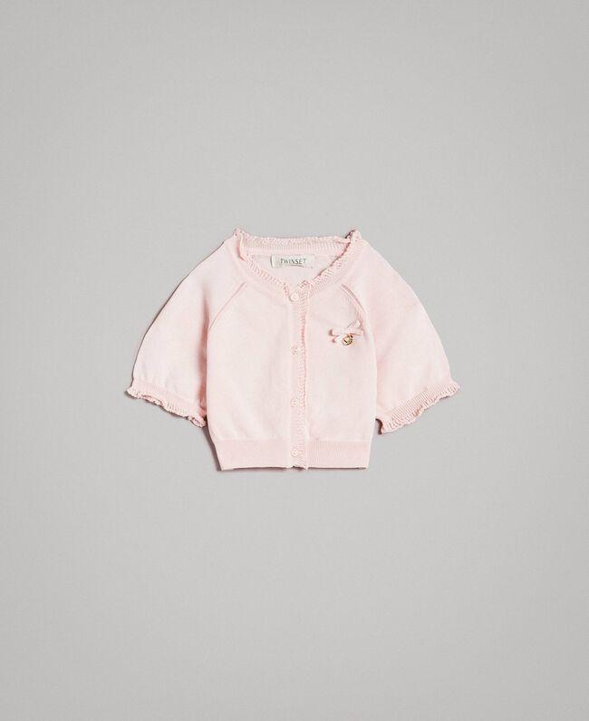 Boléro en crêpe de viscose Rose En fleur Enfant 191GJ3011-01