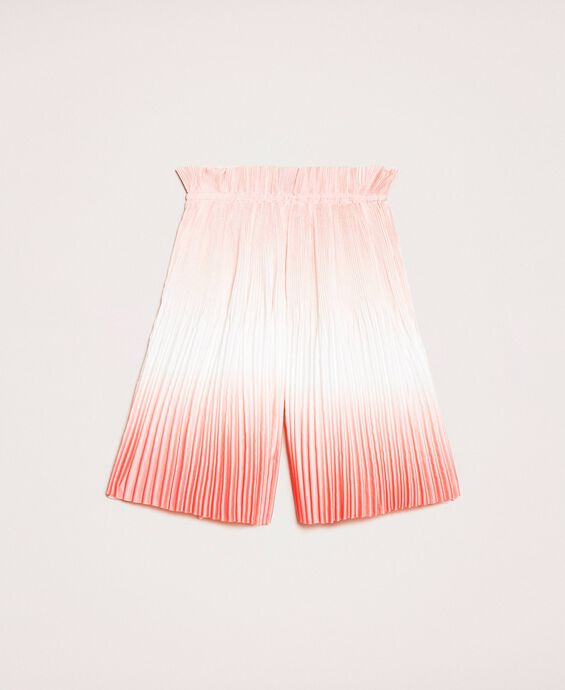 Fadeout pleated satin trousers