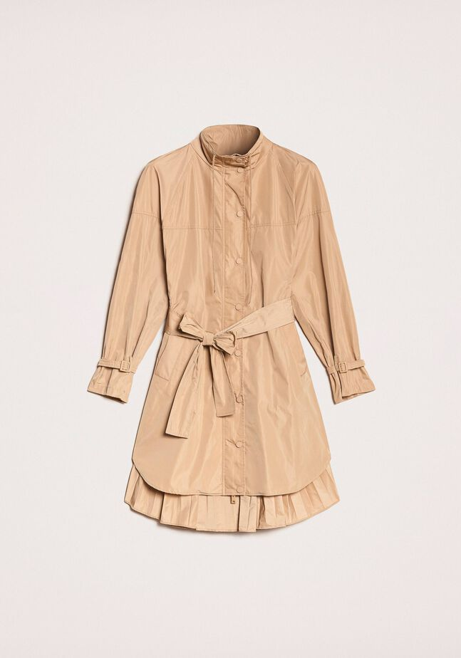 Technical twill trench coat