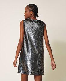Платье, полностью украшенное пайетками Серый Оружейный ствол женщина 202ST2140-04