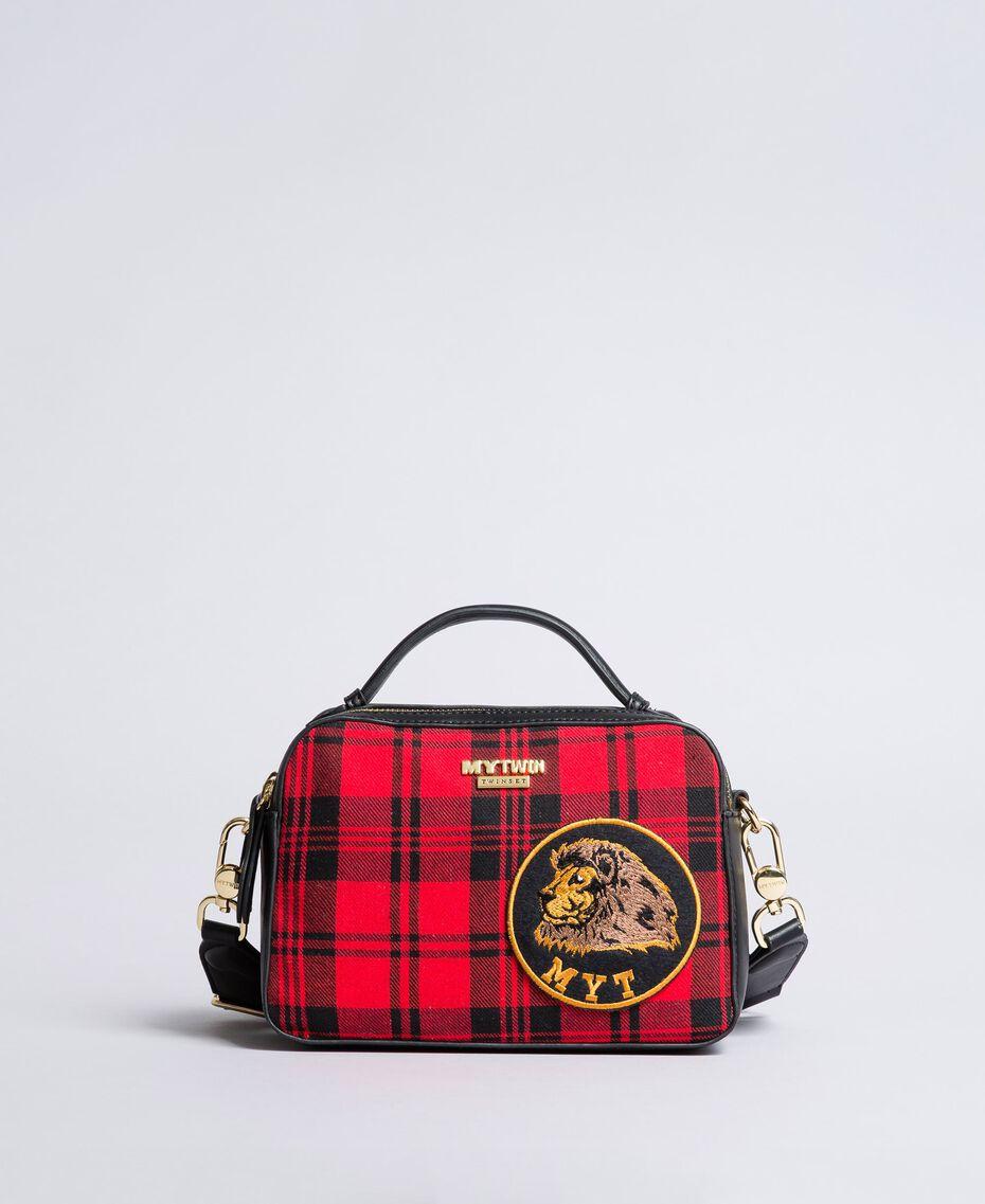 Sac à bandoulière en tartan et similicuir Imprimé Tartan Rouge Coquelicot Femme RA8TBP-02
