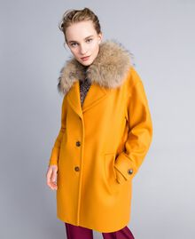 Oversized cloth coat with collar Brandy Woman PA826N-01
