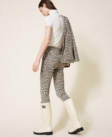 Pantalón con animal print Estampado Animal Print Nuez / Tabaco Mujer 202TT2443-03