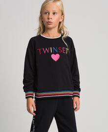 Sweatshirt with multicolour logo Black Child 999GJ2011-04